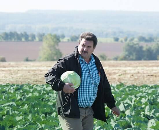 Jürgen Herpe besucht die Landwirte