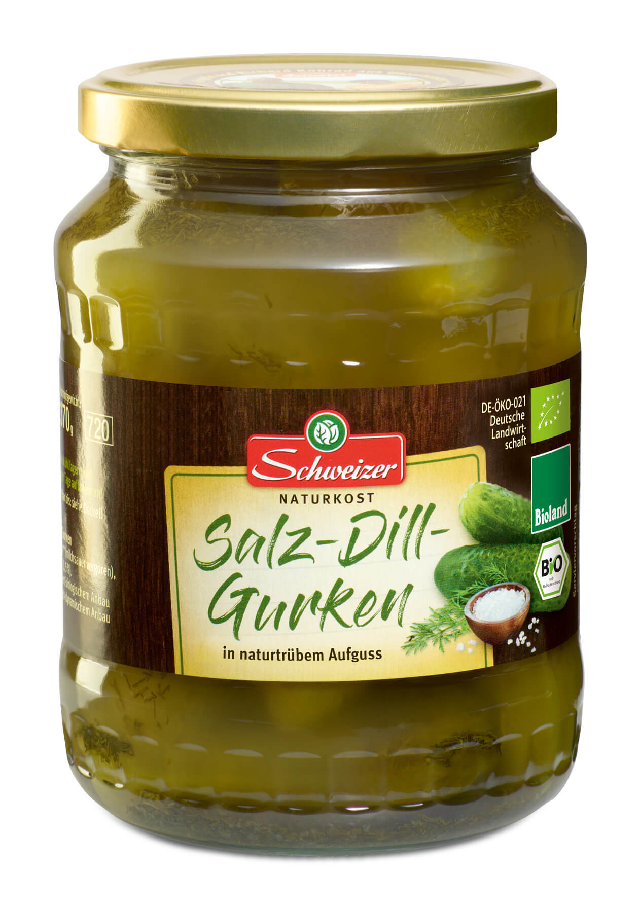 Bioland Salz-Dill-Gurken 720 ml
